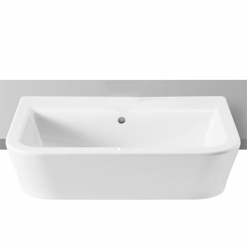 Roca The Gap Square Semi-Recessed Basin - 560mm - 0 Tap Hole - White